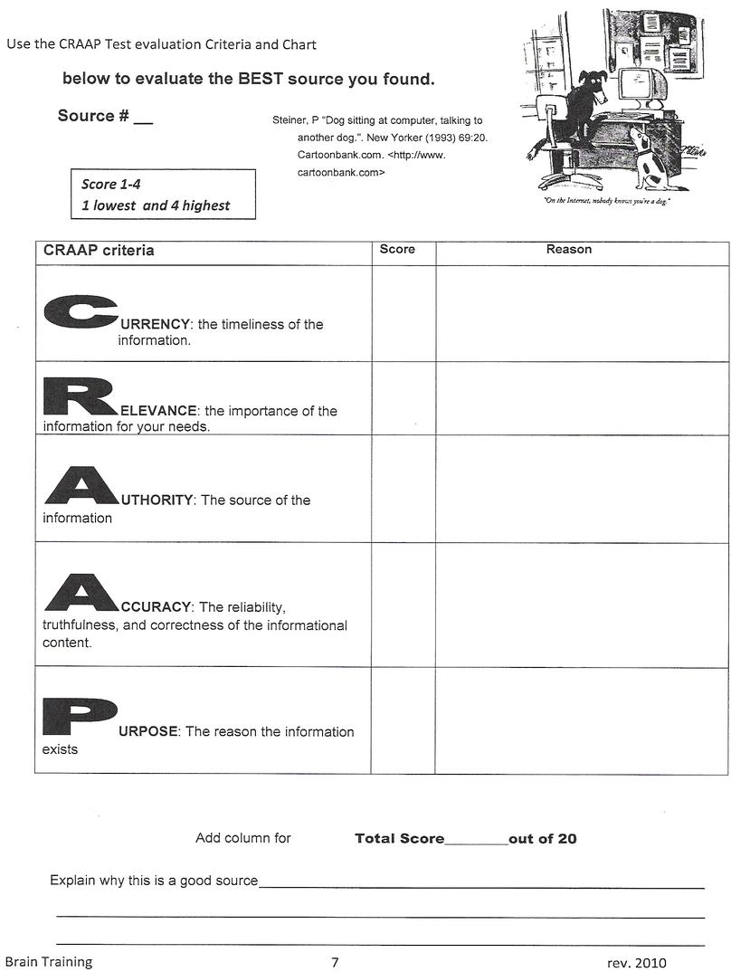 worksheet Evaluating Sources Worksheet research sources worksheet identifying reliable and citing them scholastic com